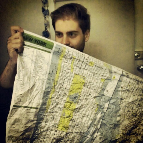 Crumpled #NYC map from @jeyda92 3 days till departure :)