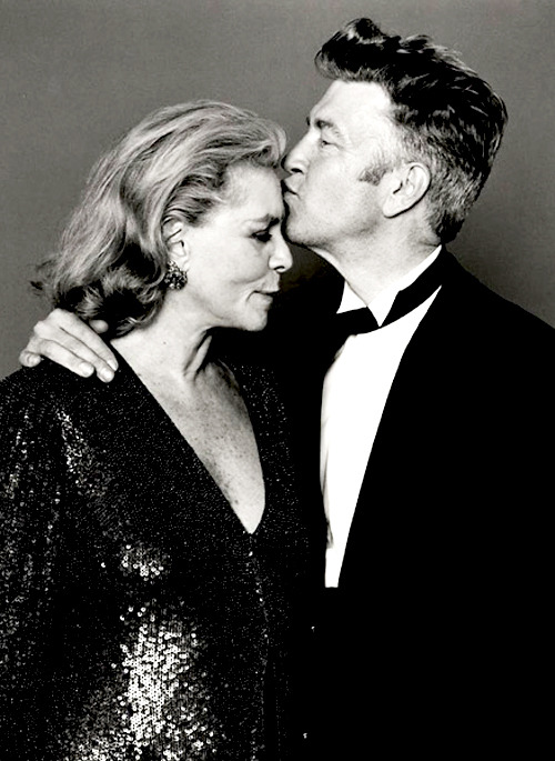Lauren Bacall and David Lynch photographed by André Rau.