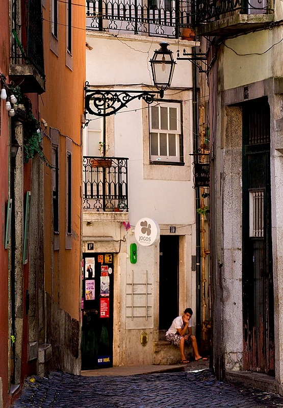 | ♕ |  Winding alley of Alfama  | by © Pierre Richer