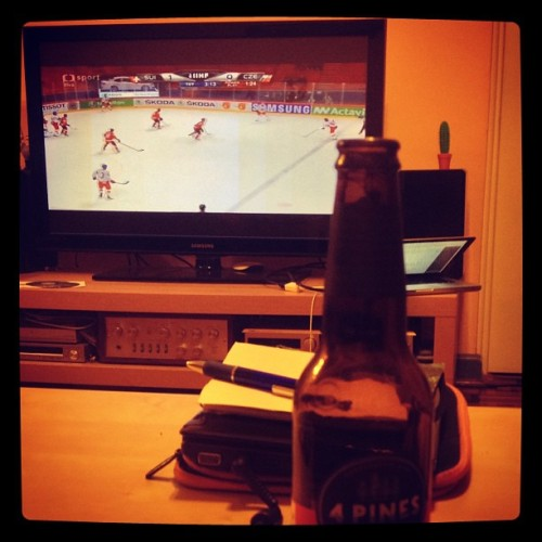 #Pivo and watching #Czech in the #IceHockeyWorldChampionships