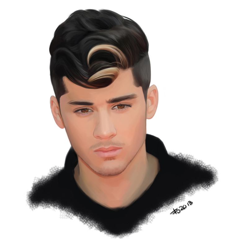 Second painting I've done of Zayn Malik. Sorry, guys.