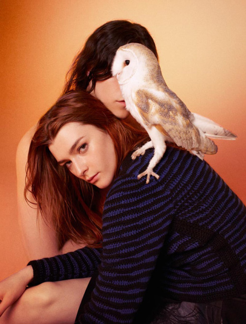 "Models Zen Sevastyanova & Miles McMillan, photographed by Ryan McGinley, for the ""Edun"" Fashion Lookbook."