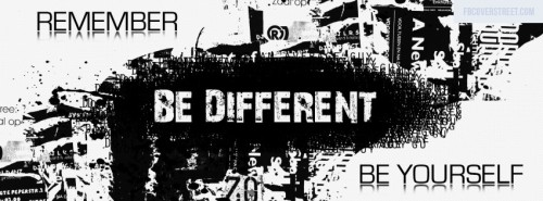 Be Different Be Yourself Facebook Cover