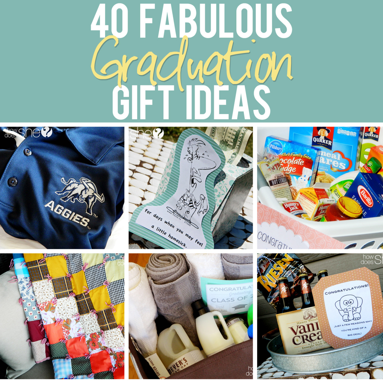 Inexpensive Graduation Gifts true blue me & you: diys for creatives • diy roundup of 40