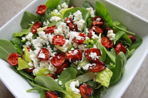 Roasted Tomato and Goats Cheese Salad