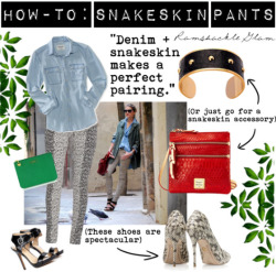 How-To: Wear Snakeskin Pants