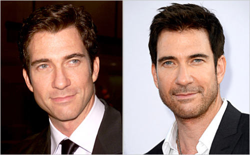 In the photo on the left, Dylan McDermott is 38. In the photo on the right, he's 50. Why don't he and these 10 other stars age?!