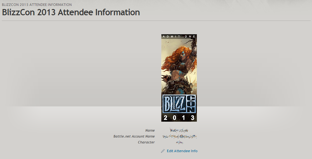 BLIZZCON 2013 with harpoonduck… CONFIRMED if only Comic-Con tickets were this easy to buy..