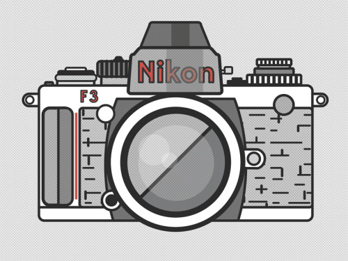 Illustration of an old Nikon F4 Film Camera. Funny how far removed this camera is now.