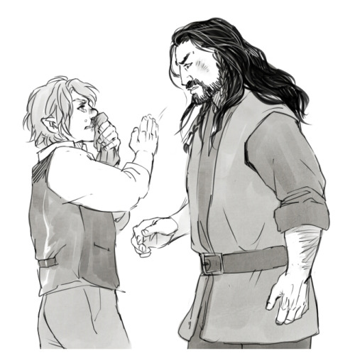 "kaciart:  ""Bilbo, I'm—""  *SLAP* ""I think you have- you have done quite enough, Thorin Oakenshield.""  Так его, Бильбо! :D"