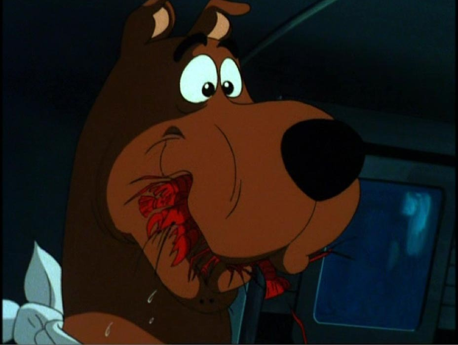 Scooby Doo Eating Craw Fish