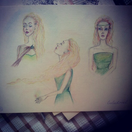 #art #colors #colourpencils #LOTR #LordOfTheRings #Galadriel #elf #book #blond #gold #hair #illustration #artist #artstagram #artistoninstagram #drawing #painting #pencils #paper #ВластелинКолец #Галадриель #книга #рисунок #художник #иллюстрация #эльф
