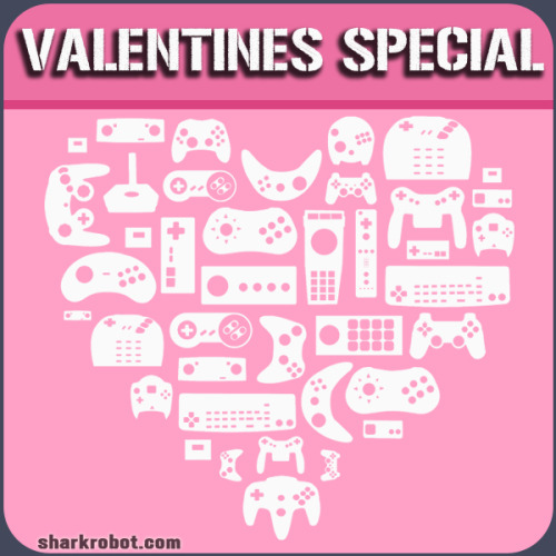 "Celebrate Valentine's Day with a limited edition pink ""I <3 Controllers"" shirt! The I <3 Controllers shirt is a love letter to videogame controllers throughout history. So what better way to show your true love you care this Valentine's Day than with our new, limited edition pink version! If pink isn't your thing, you can check out our other awesome shirt designs right here! Source: http://www.destructoid.com/celebrate-valentine-s-day-with-the-i-3-controllers-shirt-243054.phtml"