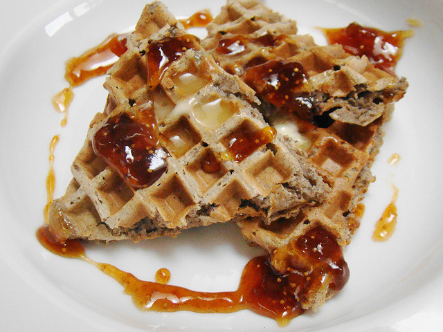 Chia Buckwheat Waffle with Fig Preserves on Flickr.hmmm