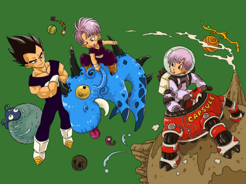"""And now son, we'll teach it to ride a ball."" - Vegeta"