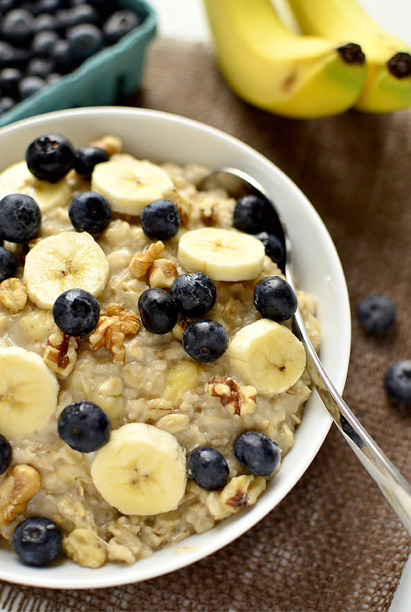 fattributes:  Blueberry Banana-Nut Oatmeal
