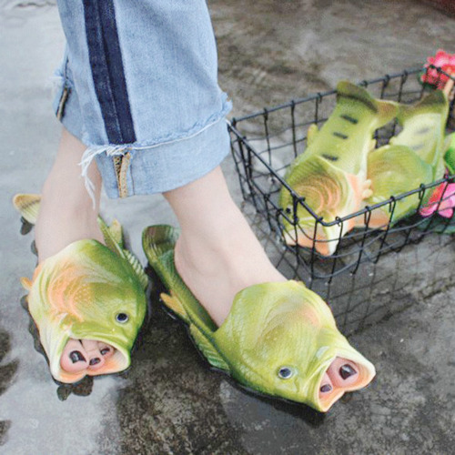 m1 slippers home shoes home slippers flip flops flipflops fish green nature fashion kfashion jfashion cute pale pastel kawaii aesthetic korean fashion korean style japanese fashion japanese style shoes cool funny vintage hipster grunge strange strange fashion