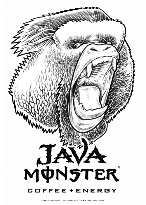The Beast - IllustrationsIllustrations for upcoming Monster Energy Java Promo Campaign