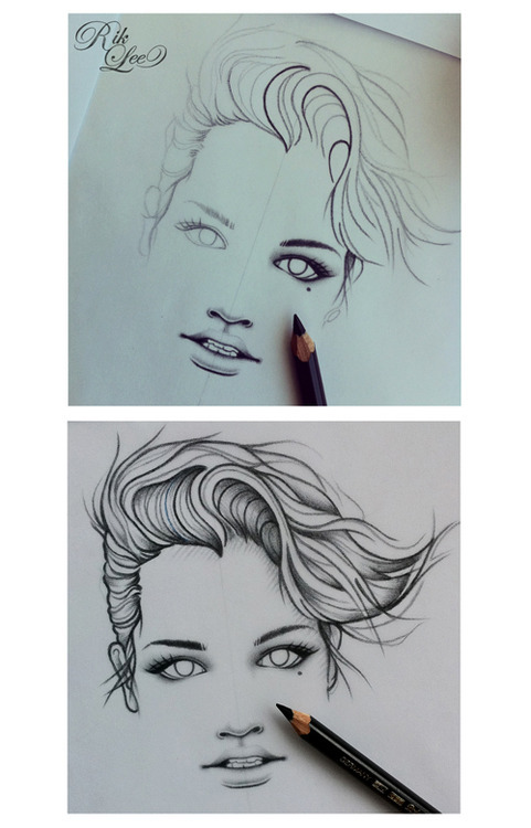 I've been sketching this lady the last two days. Yesterday's efforts up top and this morning's work below. I wonder what tomorrow will bring..?