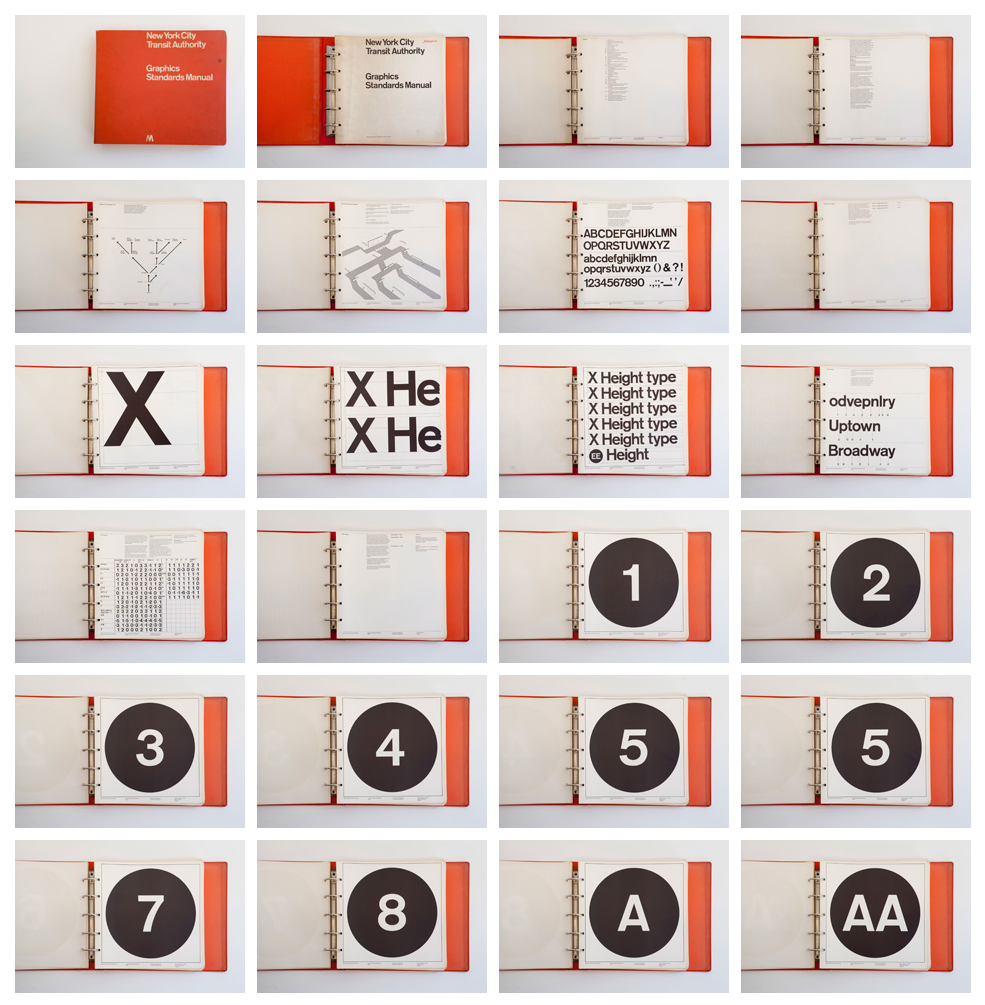 New York City Transit Authority Graphics Standards ManualDesigned by Unimark International New York, 1970 (via thestandardsmanual)