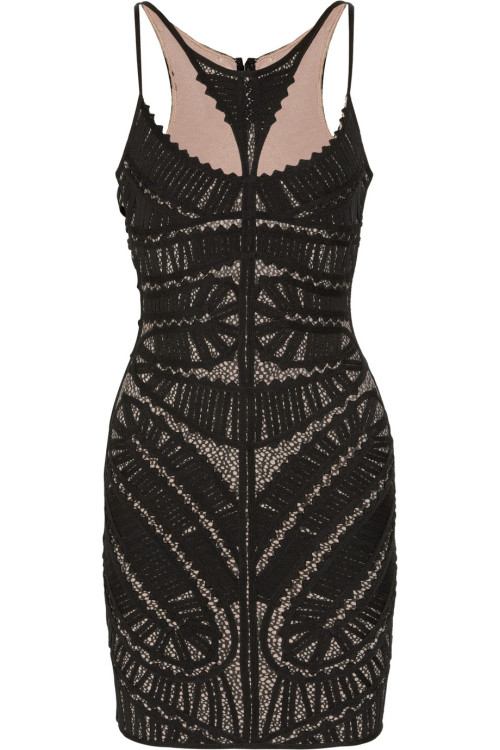 Appliquéd Printed Bandage Dress by Hervé Léger.