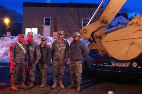 NEWS 8 Report It Photo of the Day: The National Guard lending a helping hand in downtown West Haven. Photo sent in via Report It by David R. Babbitz.