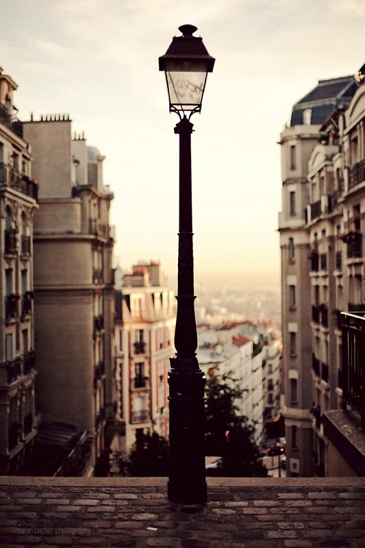 | ♕ |  Montmartre at dawn  | by © Maren Becker | via ysvoice