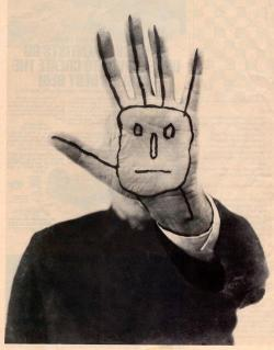 mythologyofblue:   Saul Steinberg's Last Self-Portrait.  (blackv)