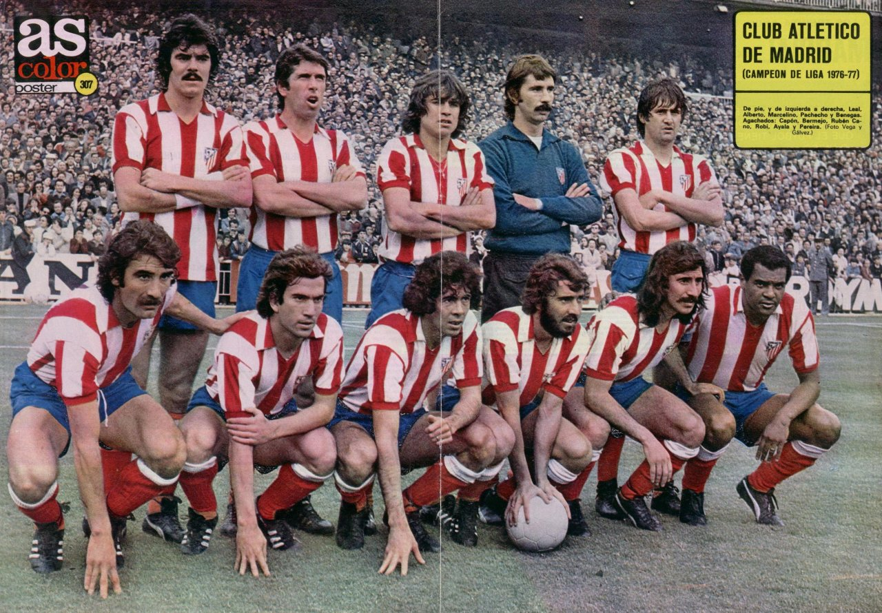 Atletico Madrid, 1976/77. Source: AS Color