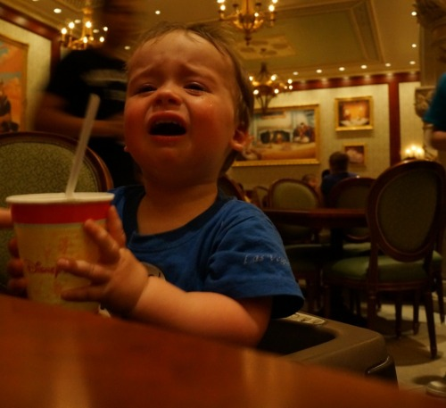 reasonsmysoniscrying:  We were dining in Disney's newest and nicest restaurant - it is literally a scene from his favorite movie. The food was not delivered quickly enough.