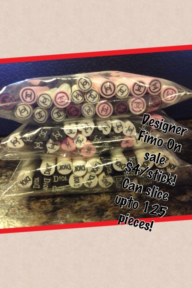 Designer Fimo On sale $4/stick! Can slice upto 125 pieces!