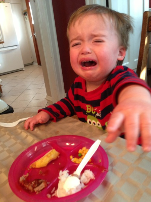 reasonsmysoniscrying:  He asked me to put butter on his rice.  I put butter on his rice.  lol…