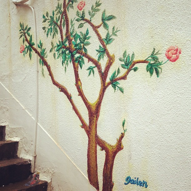 Grow tree grow!!! #hongkong #friday #sight #wall #art