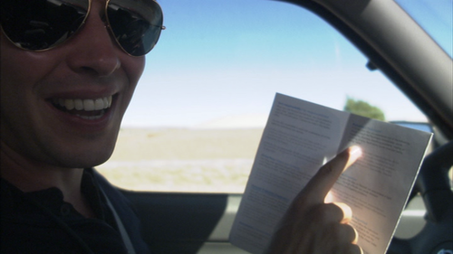 "briancoxdoingthings:  Brian Cox pointing at a pamphlet whilst driving.  This pic is absolute perfection in context. Brian Cox is reading the safety guide to Paranal Observatory in Chile, which is at an altitude of 8,600 ft, and he's giggling delightedly because one of the recommendations is: ""if you see stars at the Paranal Observatory consult a paramedic immediately."" MOST PERFECT HUMAN FULL STOP."