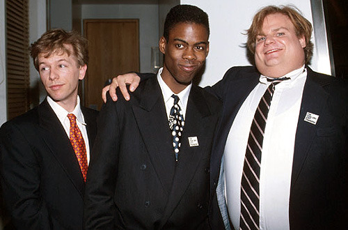 jasonfnsaint:  David Spade, Chris Rock, and Chris Farley