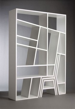 gregmelander:  CHAIR SHELF A great combo shelf and chair in one set. via Pinterest  gbattle sez: #want