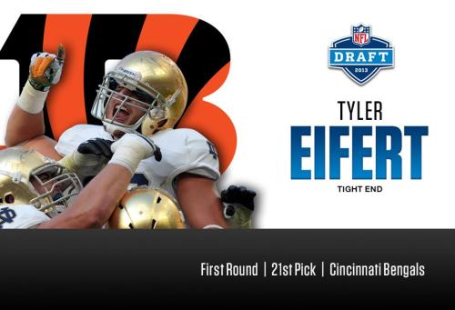 Congratulations Tyler Eifert for being drafted by the Cincinnati Bengals in the first round tonight!
