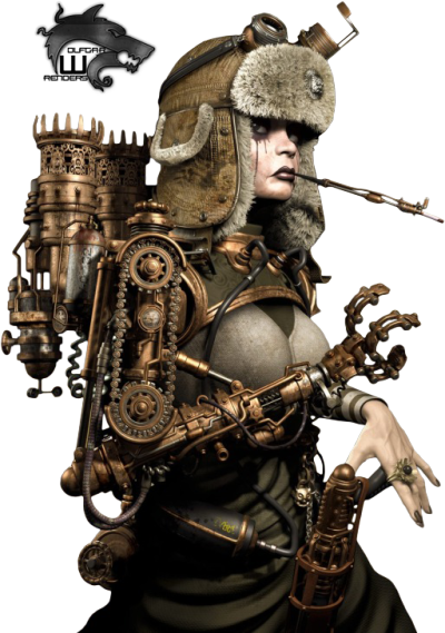 Steampunk Robot Girl Render by Keith Childress
