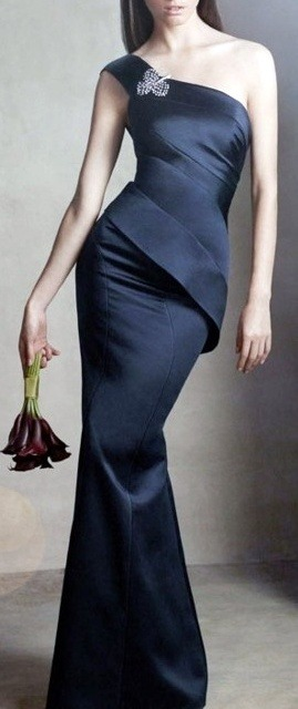 Navy blue Vera Wang dress