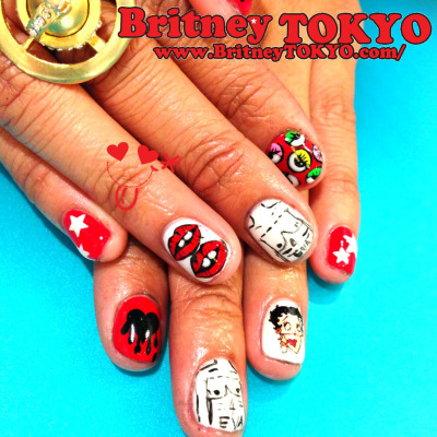 Party nail art By Britney TOKYO ☆✌ ✿ ✡ ✟ ☺ ✞ TOKYO meets HOLLYWOOD ✞ ☺ ✟ ✡ ✿ ✌