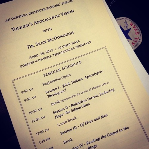 Today | #gcts #tolkien #dorktheology (at Gordon-Conwell Theological Seminary)