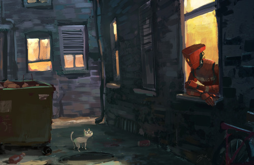 garabating:  Back Alley by Goro Fujita - Follow @garabatweet and Garabating on Facebook -