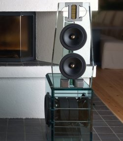 Point MKII Evolution Glass Loudspeaker by Perfect8(via Fancy)