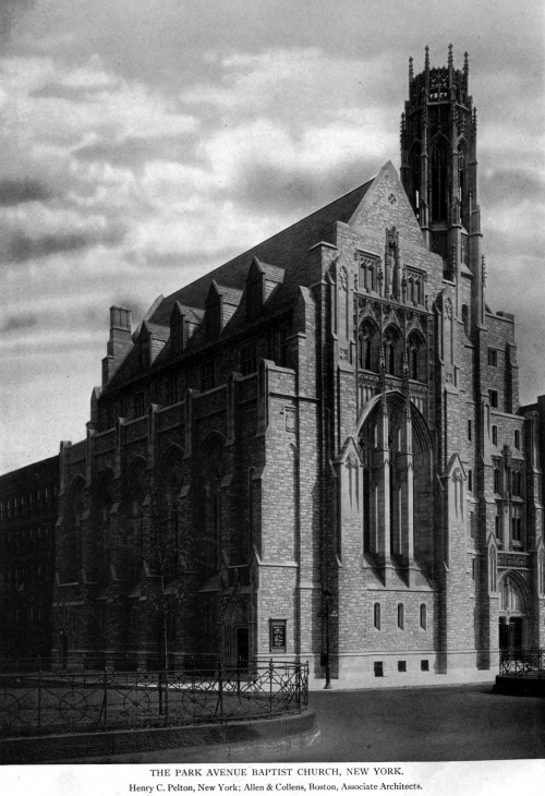 archimaps:  The Park Avenue Baptist Church, New York City