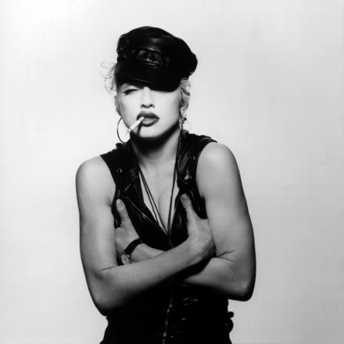 #Madonna Love the smell of cigarettes and leather.