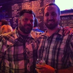 Rob and PJ from @BellsBrewery at the @penrosebrewing release party.