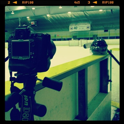Hockey photo shoot at McCormick today! (at McCormick Arena)