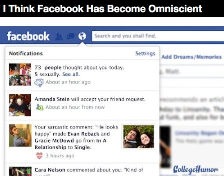 I Think Facebook Has Become Omniscient [Click for more]
