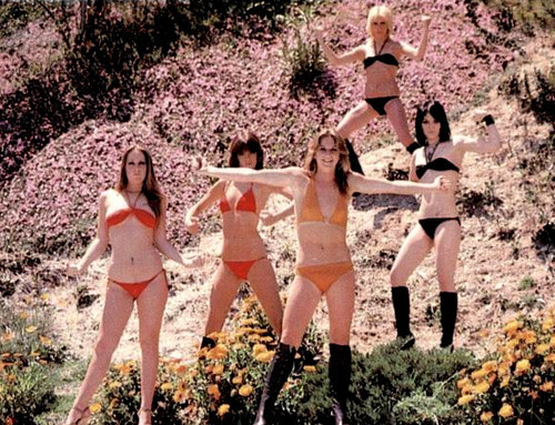 cryptofwrestling:  The Runaways bikini action…(1979)