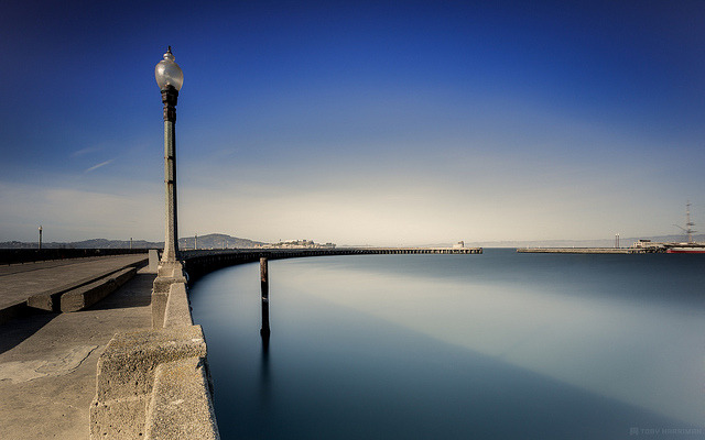 Calm Aquatic on Flickr.Via Flickr: Another shot from Aquatic Pier in San Francisco a few weeks back. With Jameson Savage! This is a 142 Second shot at f/11 ISO 160 with my LEE Big Stopper. Process with Lightroom 4 and Nik Software's Color Efex Pro 4.Website | facebook | Google+ | Blog | Stipple